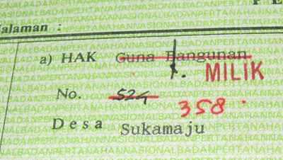HGB to Hak Milik